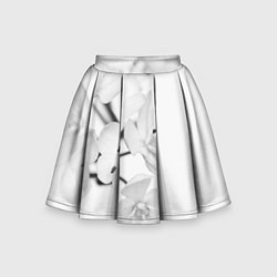 Юбка-солнце для девочки Белая сакура цвета 3D — фото 1