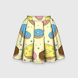Юбка-солнце для девочки Сладкие пончики цвета 3D — фото 1