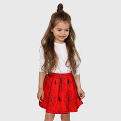 Юбка клеш для девочки с принтом Рассадник пауков, цвет: 3D, артикул: 10135071105607 — фото 2