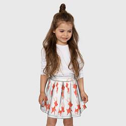 Юбка-солнце для девочки Милый олень цвета 3D — фото 2
