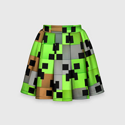 Юбка-солнце для девочки Minecraft цвета 3D — фото 1