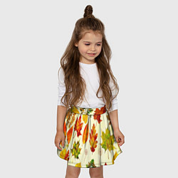 Юбка-солнце для девочки Осень цвета 3D — фото 2