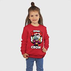Свитшот хлопковый детский БРАВЛ СТАРС CROW ВОРОН цвета красный — фото 2
