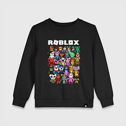 Свитшот хлопковый детский ROBLOX PIGGY цвета черный — фото 1