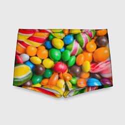 Плавки для мальчика Сладкие конфетки цвета 3D — фото 1