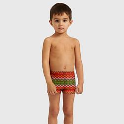 Плавки для мальчика Зимний узор цвета 3D — фото 2