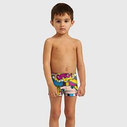 Плавки для мальчика POP ART цвета 3D — фото 2