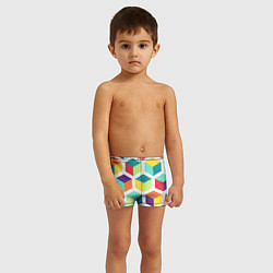 Плавки для мальчика 3D кубы цвета 3D — фото 2