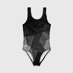 Купальник для девочки Abstract gray цвета 3D-принт — фото 1