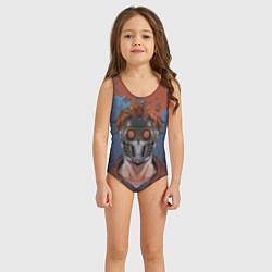 Купальник для девочки Звездный лорд цвета 3D — фото 2