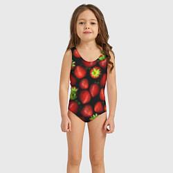 Купальник для девочки Клубничка цвета 3D — фото 2