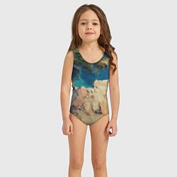 Купальник для девочки Земля цвета 3D — фото 2