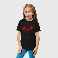 Футболка хлопковая детская АлисА цвета черный — фото 2