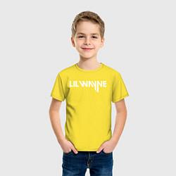 Футболка хлопковая детская Lil Wayne цвета желтый — фото 2