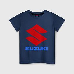 Футболка хлопковая детская Suzuki цвета тёмно-синий — фото 1