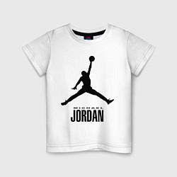 Детская хлопковая футболка с принтом Jordan Style, цвет: белый, артикул: 10011306700014 — фото 1