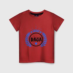 Футболка хлопковая детская Daga цвета красный — фото 1