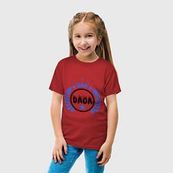 Футболка хлопковая детская Daga цвета красный — фото 2