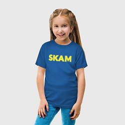 Футболка хлопковая детская Skam цвета синий — фото 2