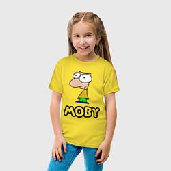 Футболка хлопковая детская Moby цвета желтый — фото 2