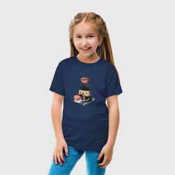 Футболка хлопковая детская Милый Соевый соус цвета тёмно-синий — фото 2