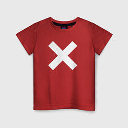 Футболка хлопковая детская The XX: White X цвета красный — фото 1