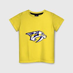 Футболка хлопковая детская Nashville Predators: Radulov 47 цвета желтый — фото 1