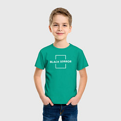 Футболка хлопковая детская Black Mirror цвета зеленый — фото 2