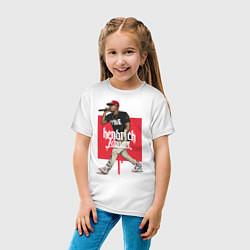 Футболка хлопковая детская Kendrick Lamar цвета белый — фото 2