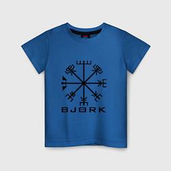 Футболка хлопковая детская Bjork Rune цвета синий — фото 1