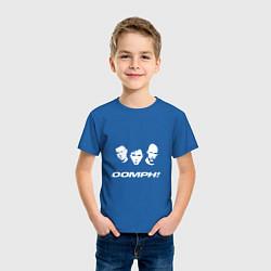 Футболка хлопковая детская Rock OOMPH! цвета синий — фото 2