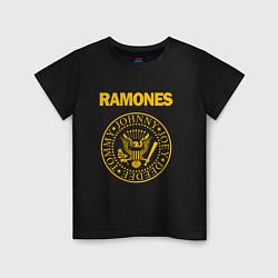 Футболка хлопковая детская Ramones цвета черный — фото 1