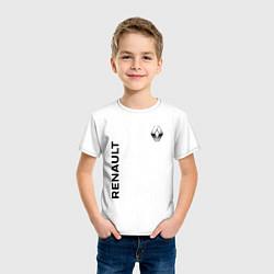 Футболка хлопковая детская Renault Style цвета белый — фото 2