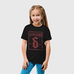 Футболка хлопковая детская Shinedown est 2001 цвета черный — фото 2