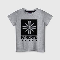 Футболка хлопковая детская Eden's Gate: Far Cry 5 цвета меланж — фото 1