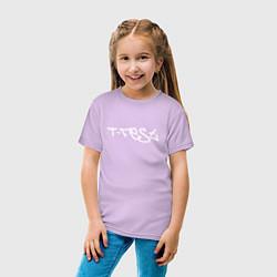 Футболка хлопковая детская T-Fest цвета лаванда — фото 2