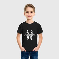 Футболка хлопковая детская Агата Кристи цвета черный — фото 2