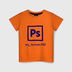 Футболка хлопковая детская Photoshop цвета оранжевый — фото 1