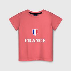 Футболка хлопковая детская France цвета коралловый — фото 1