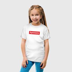Футболка хлопковая детская Suprememe цвета белый — фото 2