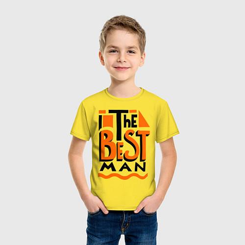 Детская футболка The best man / Желтый – фото 3