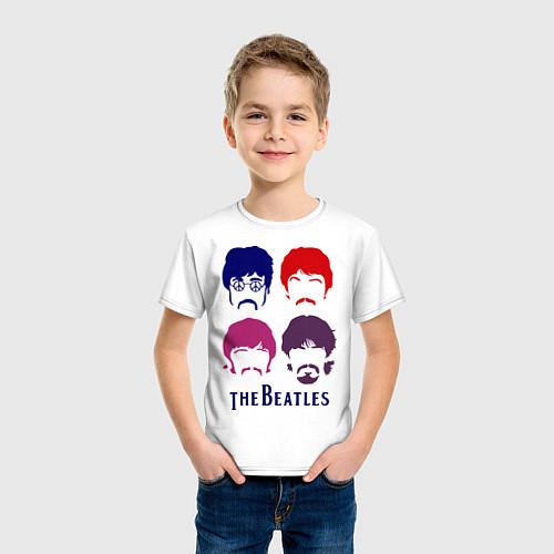 Детская футболка The Beatles faces / Белый – фото 3
