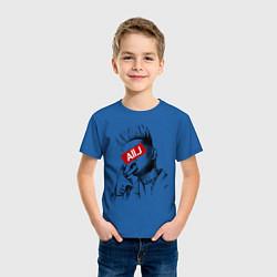 Футболка хлопковая детская Allj Supreme цвета синий — фото 2