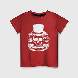 Футболка хлопковая детская Taboo: James Delaney цвета красный — фото 1