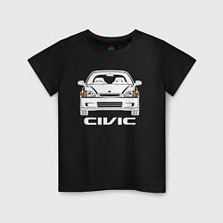 Футболка хлопковая детская Honda Civic EK 6 цвета черный — фото 1