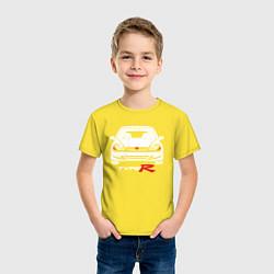 Футболка хлопковая детская Honda Civic: Type R цвета желтый — фото 2