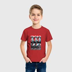 Футболка хлопковая детская Supreme x Elvis Presley цвета красный — фото 2