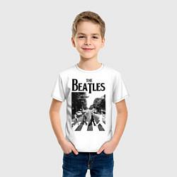 Футболка хлопковая детская The Beatles: Mono Abbey Road цвета белый — фото 2