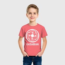 Футболка хлопковая детская Kasabian: Symbol цвета коралловый — фото 2