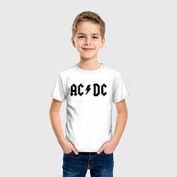 Футболка хлопковая детская AC/DC цвета белый — фото 2
